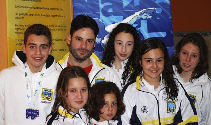 El Club Deportivo Natación Linares en el andaluz alevín de invierno