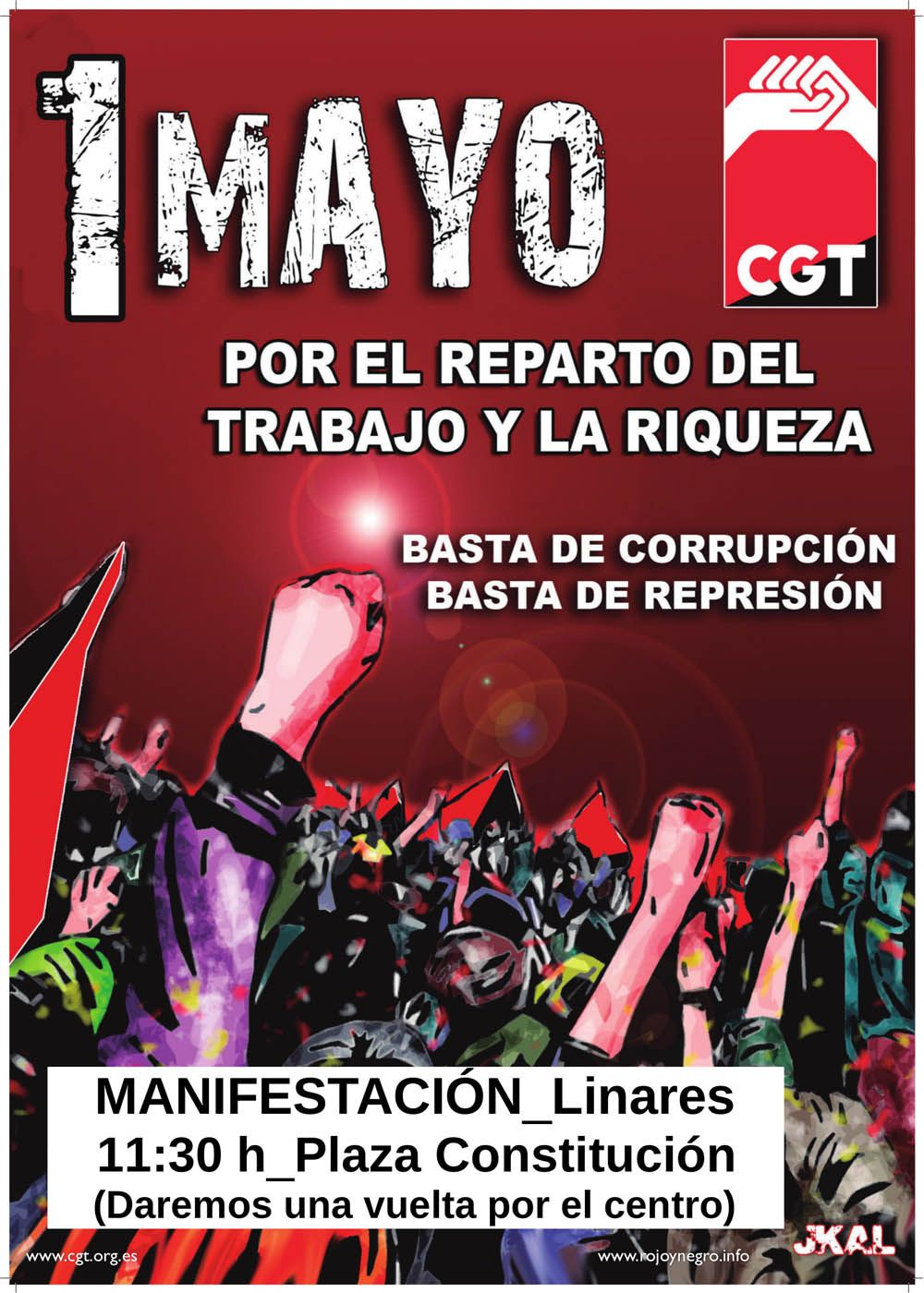 MANIFIESTO 1º DE MAYO DE CGT LINARES