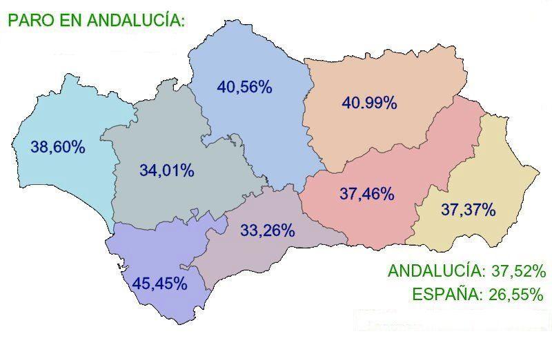 El PA responsabiliza a los partidos de Madrid, PP, PSOE e IU, de que   Andalucía sea la última de Europa en empleo