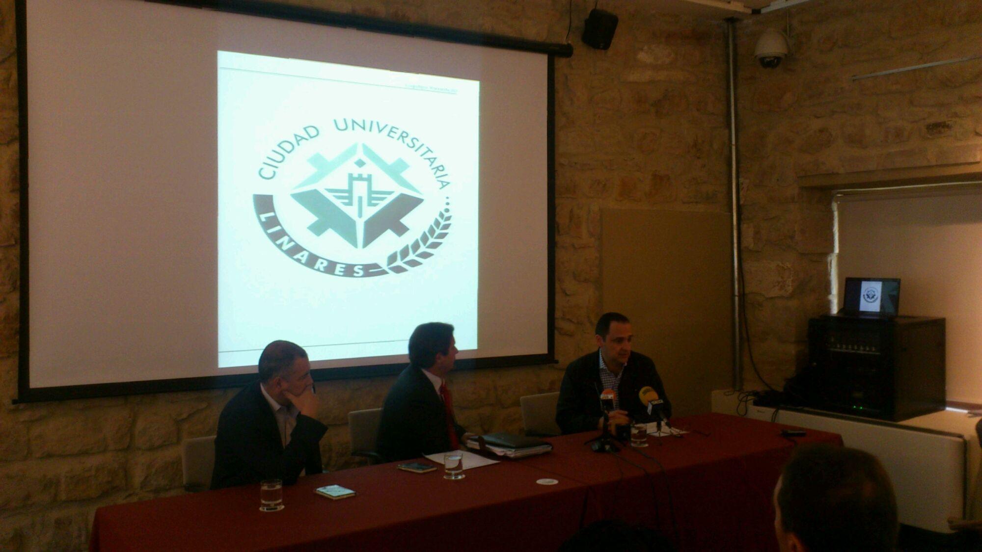 En estos momentos presentación logo Linares Ciudad Universitaria