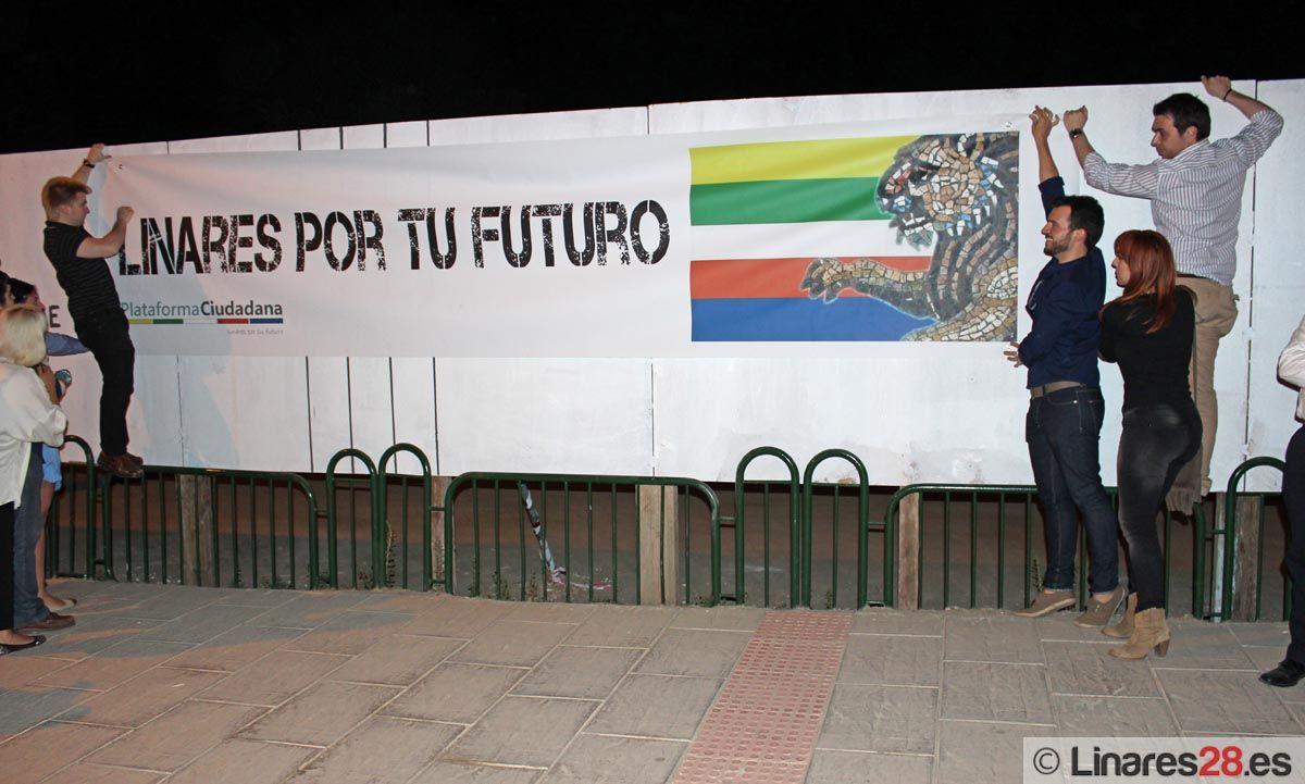 Linares inicia la campaña electoral protestando por un futuro para la ciudad
