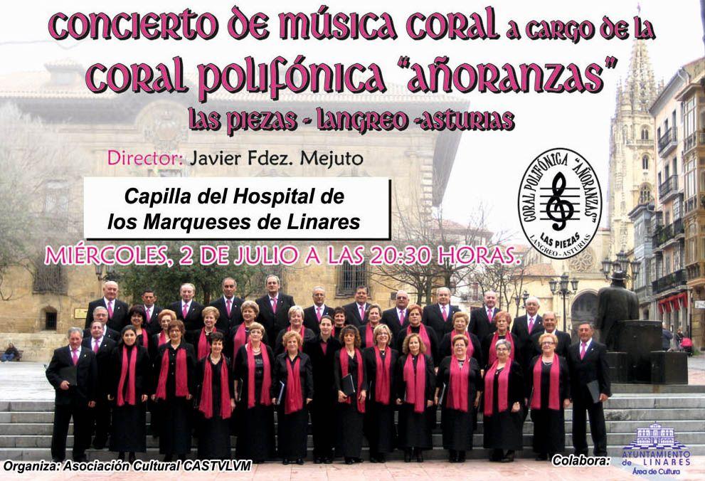 La Coral Polifónica Añoranzas de Langreo actuará en Linares
