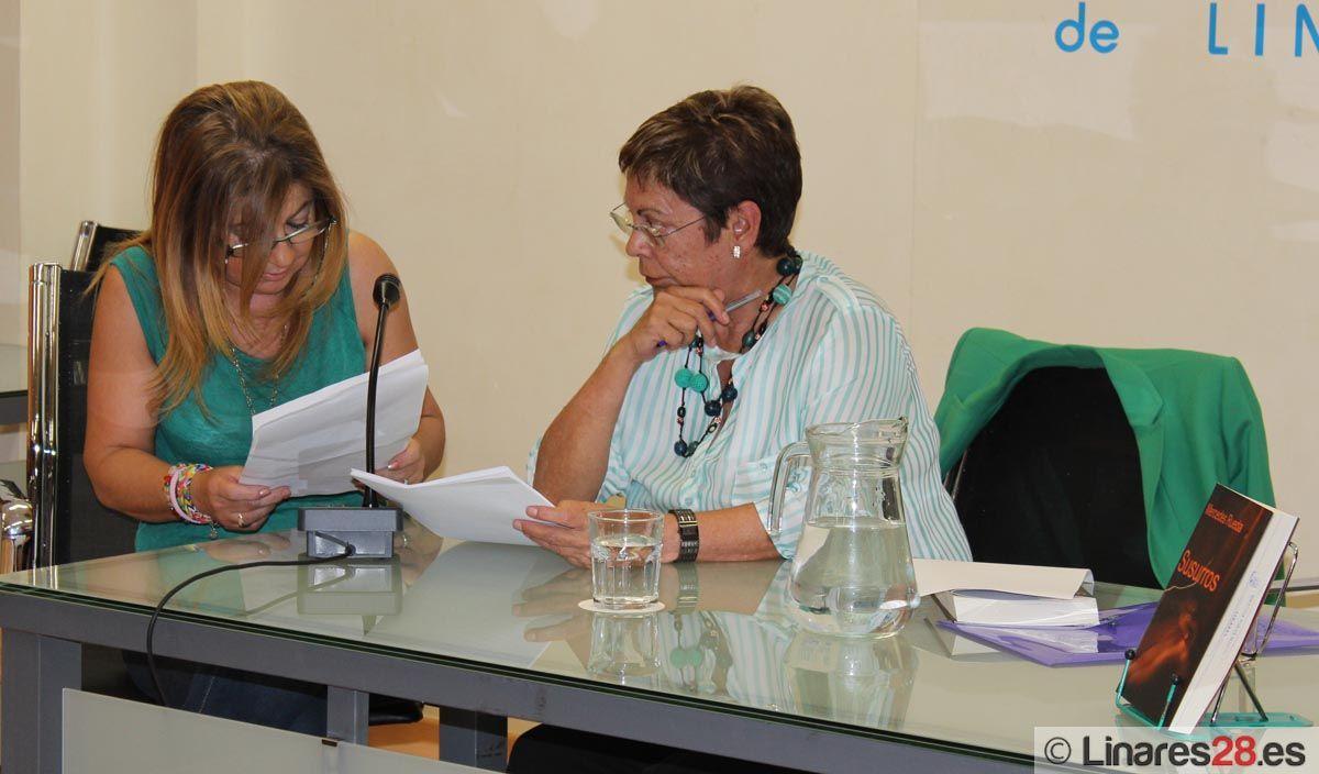 """Mercedes Rueda presenta su libro """"Susurros"""" a los grupos de lectura"""