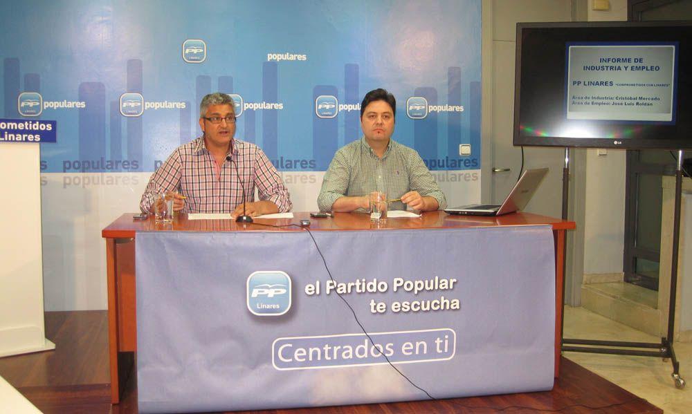 El Partido Popular culpa a la nefasta gestión de la Junta y el Ayuntamiento de la dramática situación de la industria en Linares