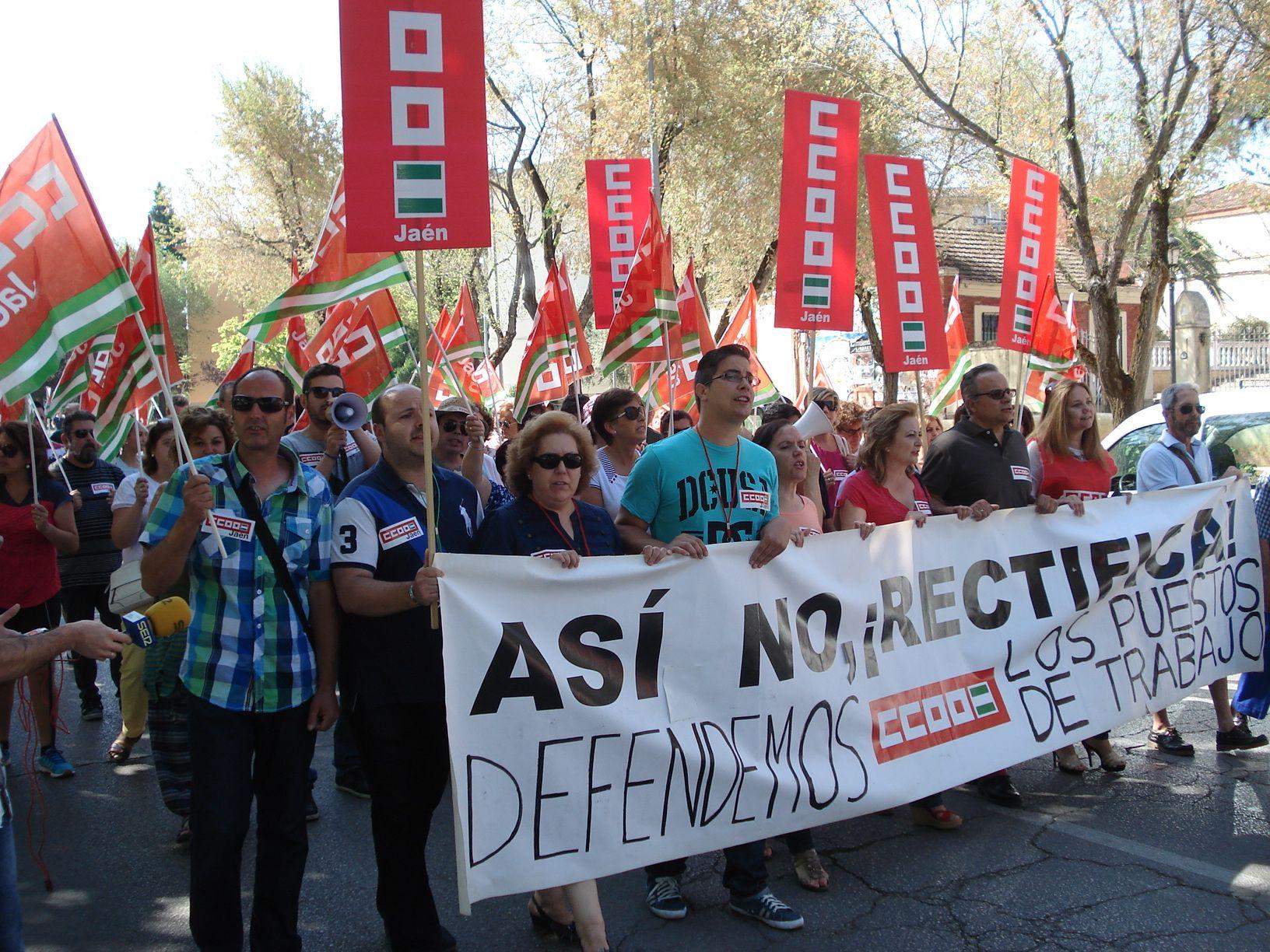 CC OO celebra una jornada de huelga en el Asilo con el rechazo de la actual plantilla
