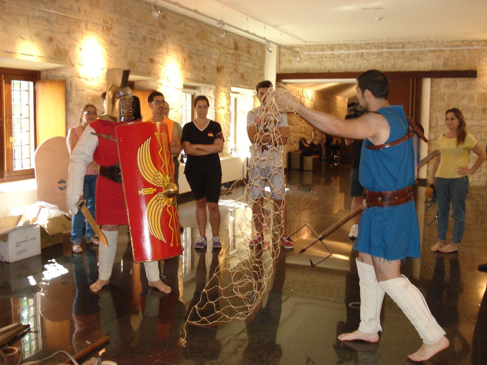 Comienzan los talleres para formar a gladiadores romanos