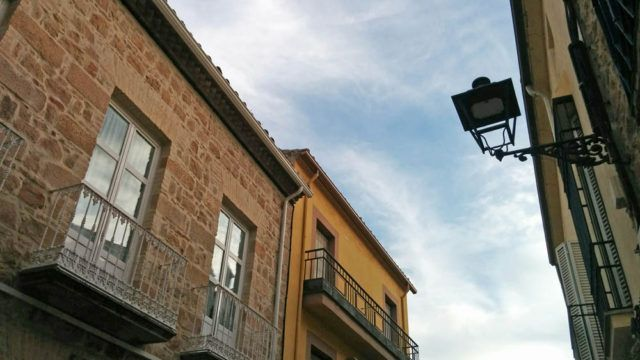 Farola con luminaria led en el Casco Antiguo de Linares