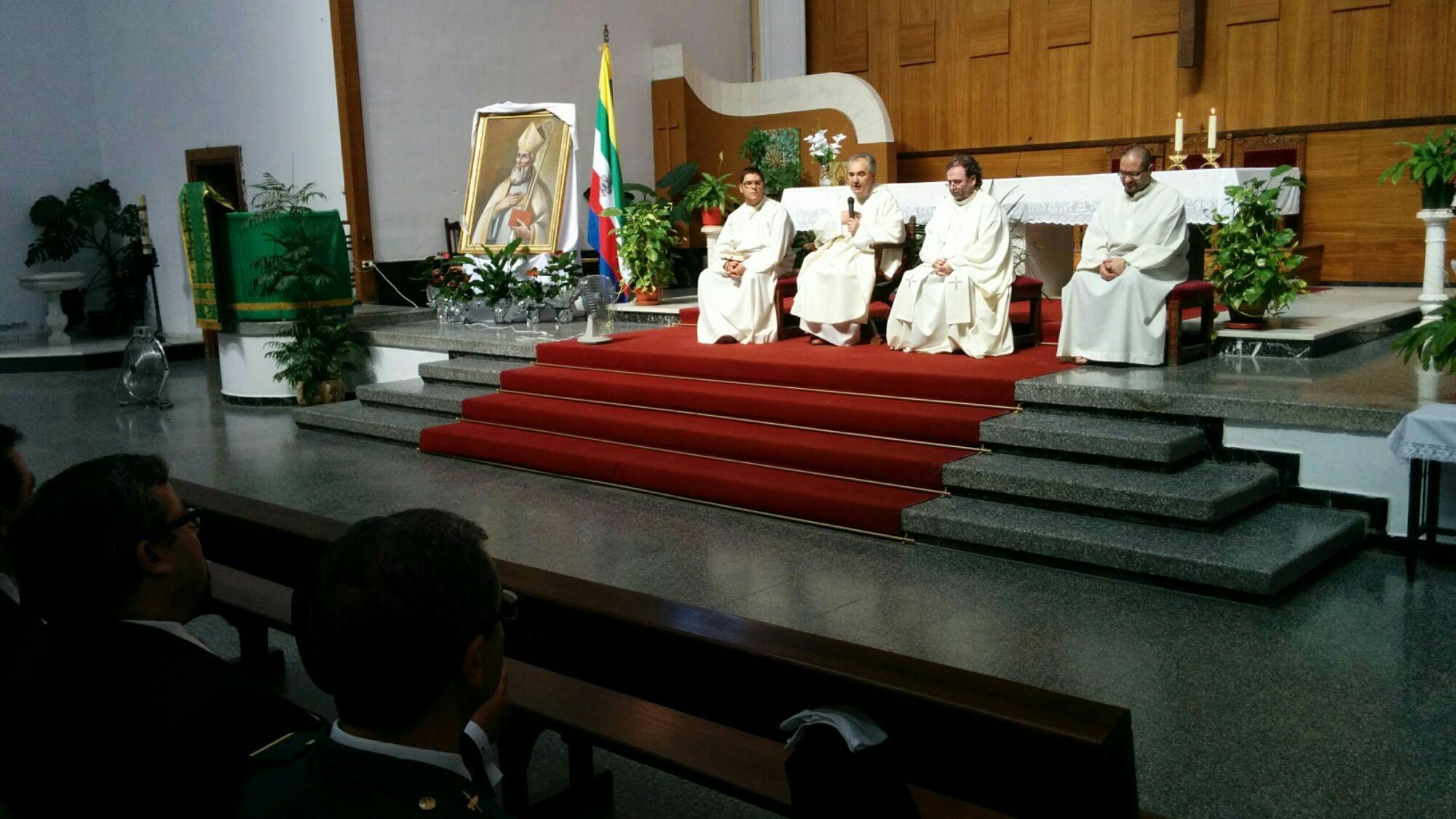 En estos momentos misa de San Agustín