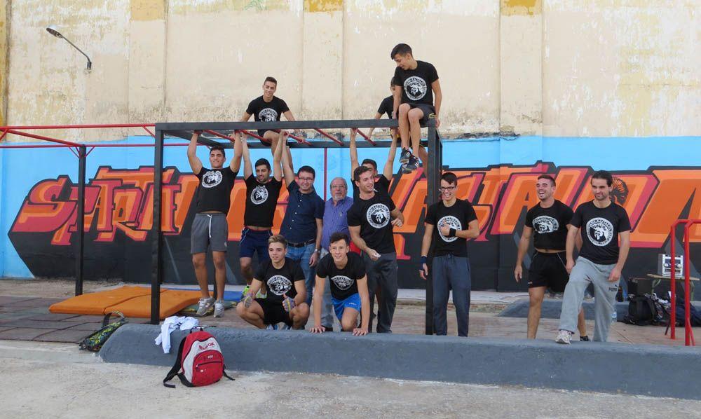 Exhibición de Street Workout en Linares