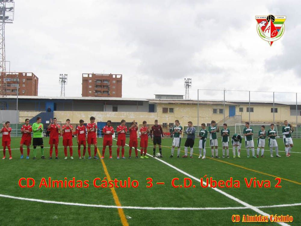 Los Cadetes del CD Almidas vencen en un partido muy disputado contra el equipo del CD Úbeda Viva