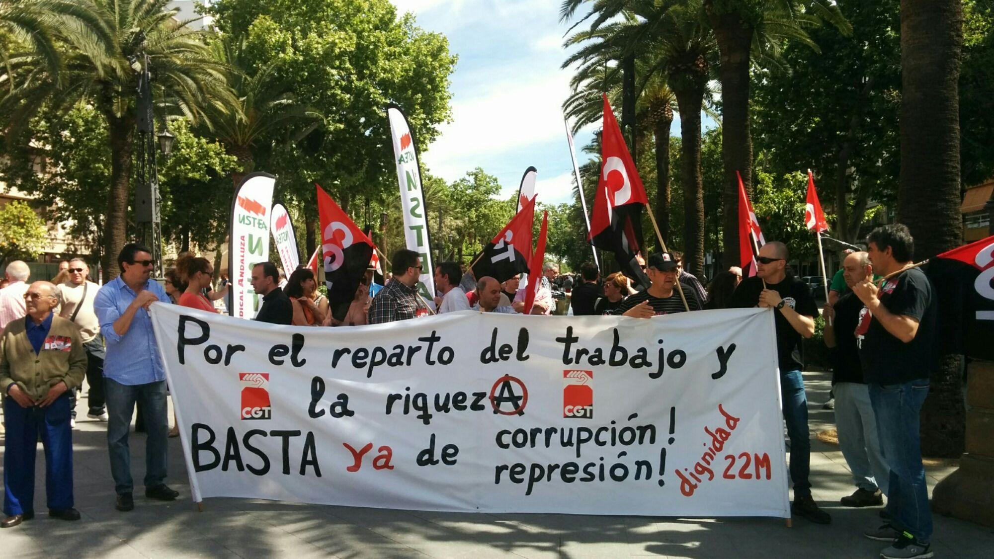 En estos momentos manifestación Marchas por la Dignidad 1 Mayo