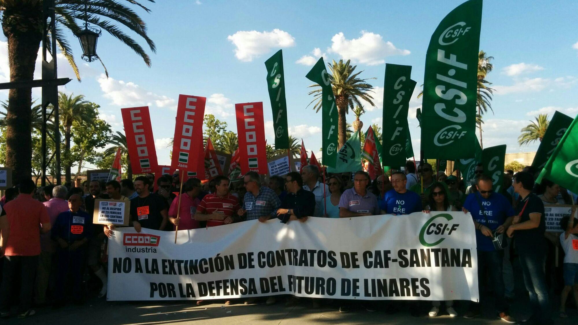 En estos momentos comienza la manifestación de CAF Santana