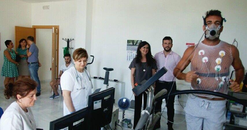 Los jugadores del Linares Deportivo pasan los reconocimientos médicos previos en el Centro Andaluz de Medicina del Deporte