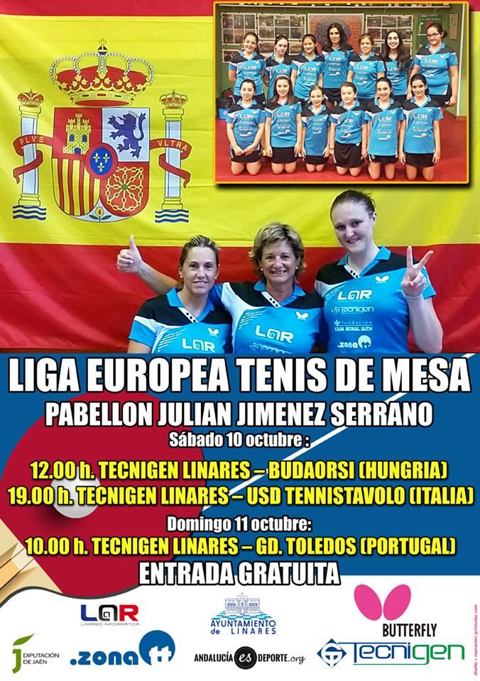 Se acerca la Liga Europea de Tenis de Mesa