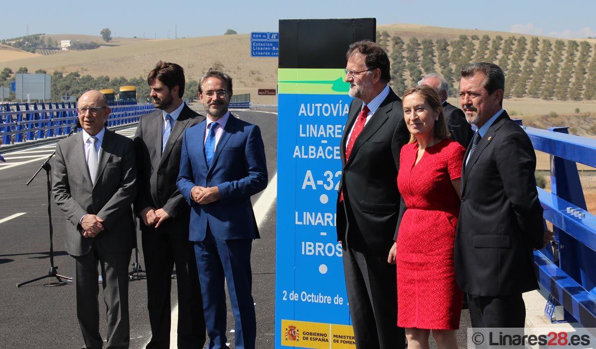 Rajoy asiste a la puesta en servicio del tramo de la autovía A-32: Linares-Ibros