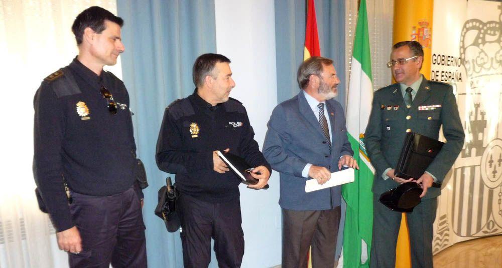 Dispositivo especial de la Policía Nacional para el partido entre el Real Jaén y el Linares Deportivo