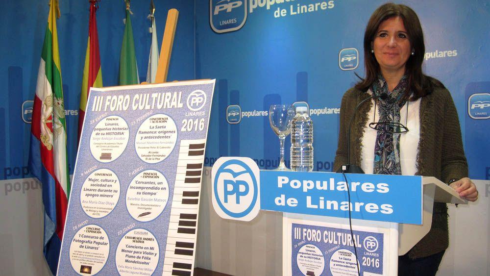 El Partido Popular presenta la programación de su 'III Foro Cultural 2016' con seis interesantes citas en torno al patrimonio histórico y artístico de Linares