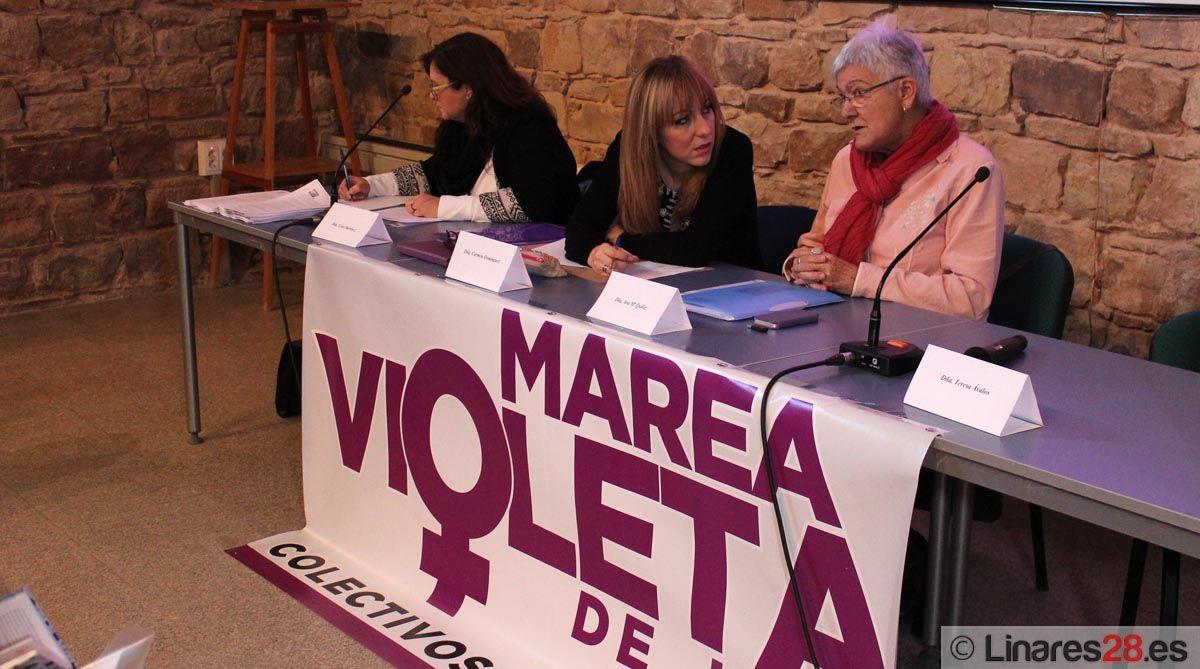 El movimiento Marea Violeta de Jaén se reunió en Linares