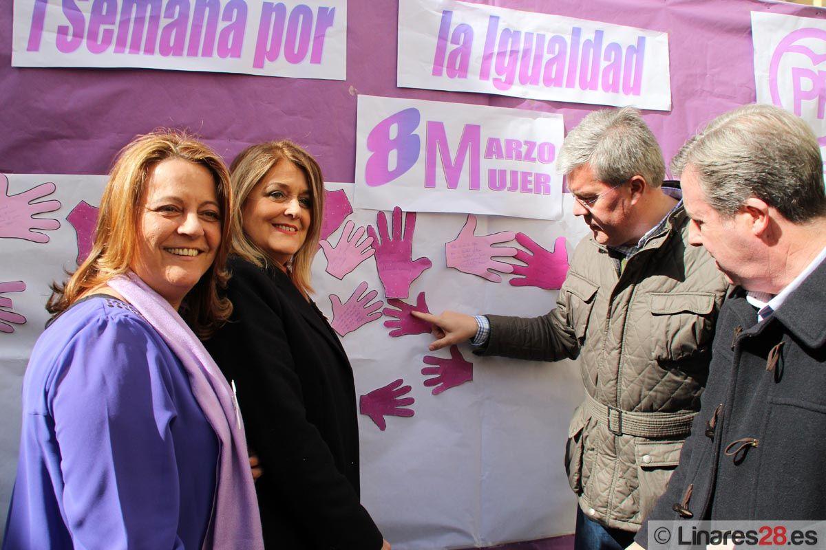 """""""Mural reivindicativo por la Igualdad"""" del PP de Linares"""