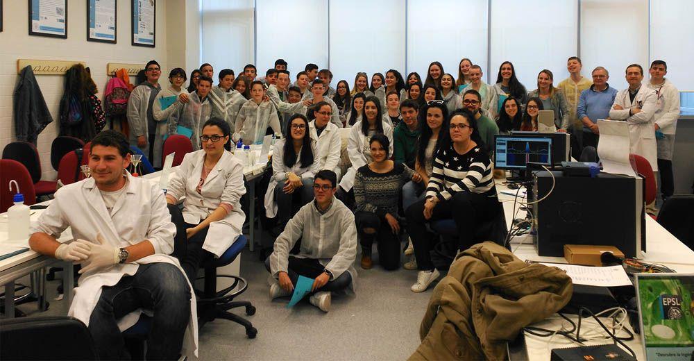 Alumnado de Secundaria holandés conoce las nuevas instalaciones del Campus Científico-Tecnológico de Linares