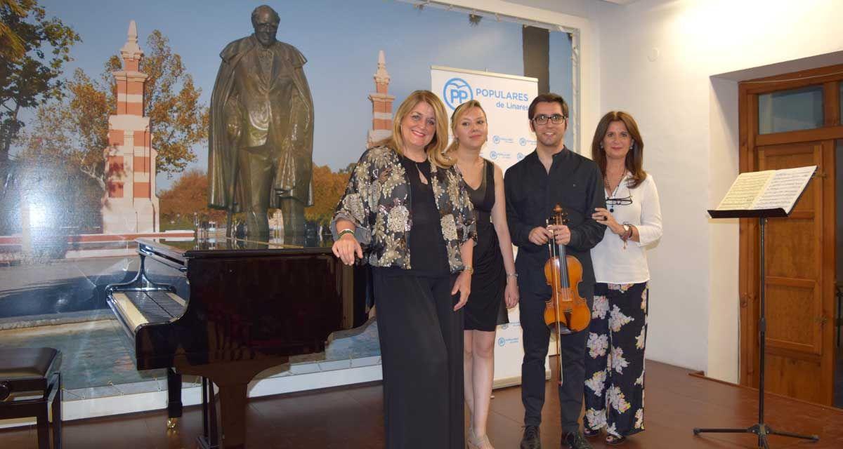 El PP de Linares clausura con gran éxito su III Foro Cultural 2016 con un concierto para violín y piano en la Casa-Museo Andrés Segovia