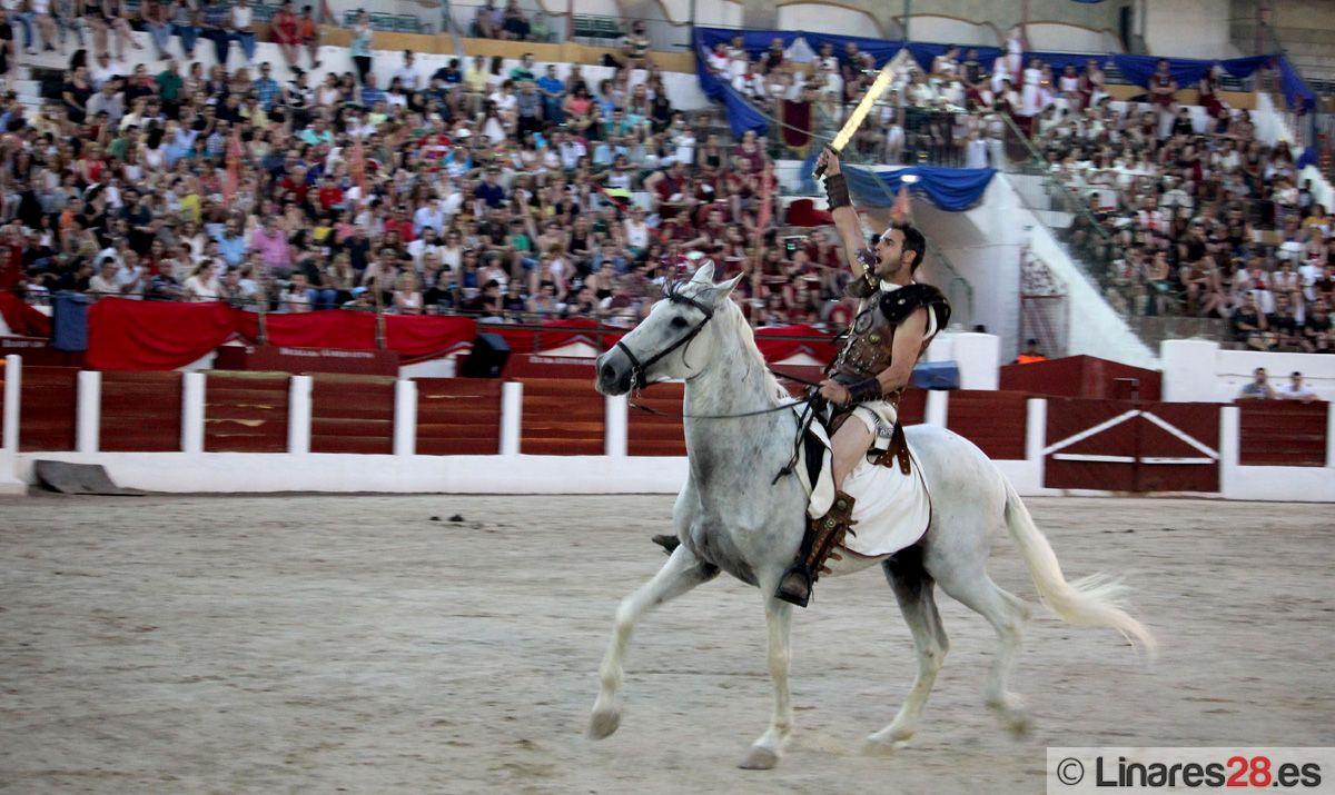 El gran espectáculo del circo romano seduce a Linares