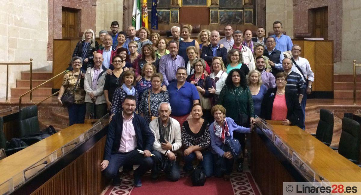 """La """"Federación Himilce"""" visita el Parlamento andaluz"""