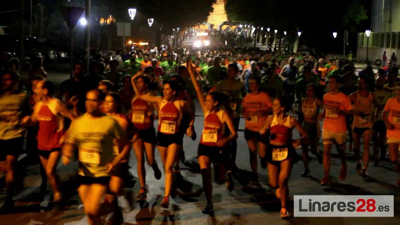 Cerca de 1500 corredores en la segunda prueba nocturna de Linares