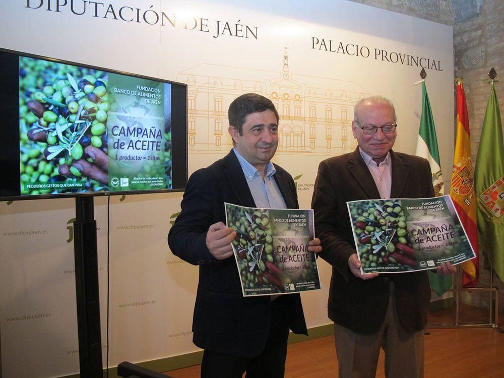 Diputación y Banco de Alimentos impulsan una campaña de recogida de aceite de oliva para familias necesitadas