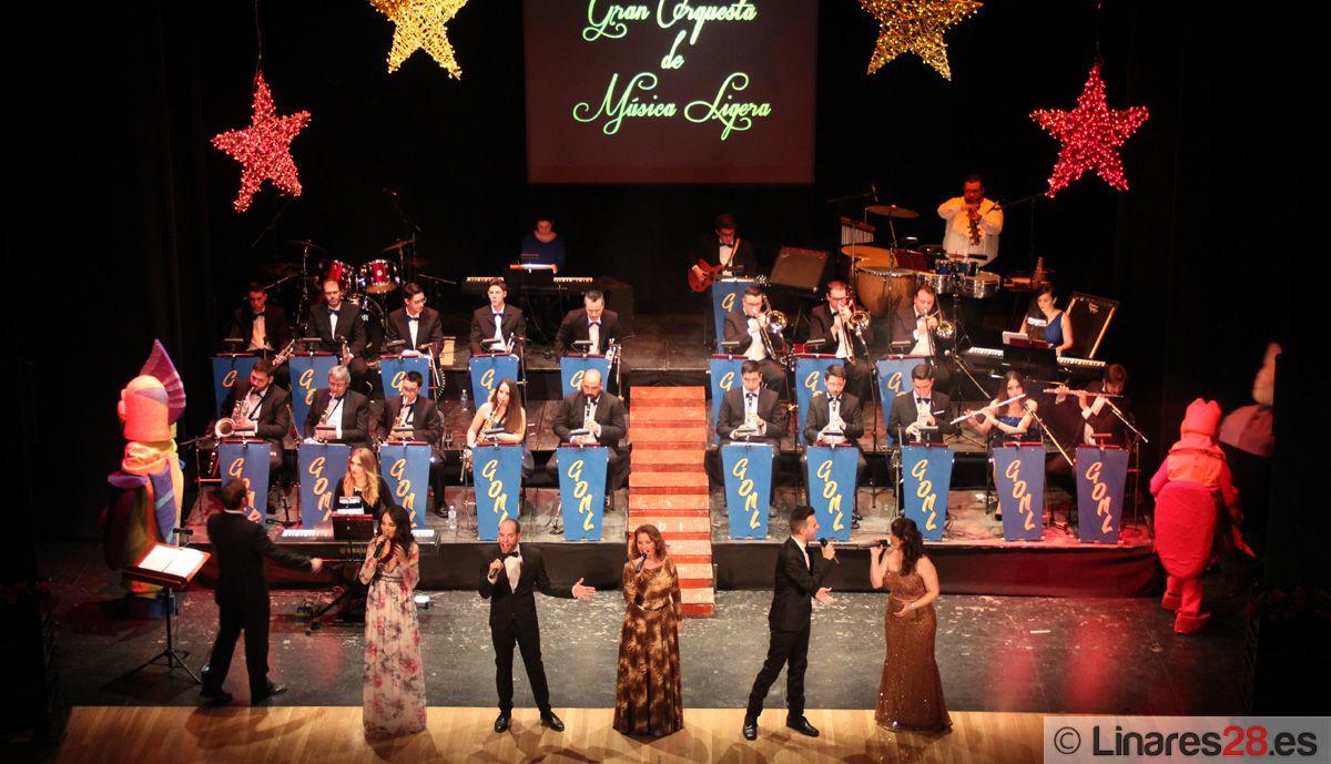 La GOML lleva ilusión y alegría al Teatro Cervantes con un Concierto Especial de Navidad