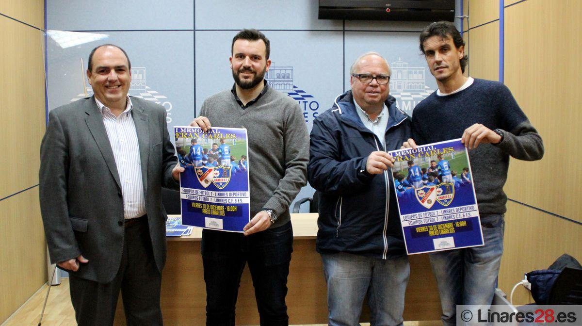 Momento de la presentación de evento en la sala de prensa del Ayuntamiento de Linares