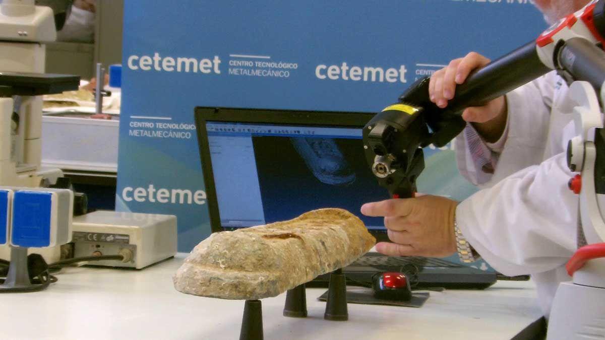CETEMET digitaliza los lingotes de plomo fundidos en Linares a finales del siglo XIX y hallados en aguas del Canal de la Mancha