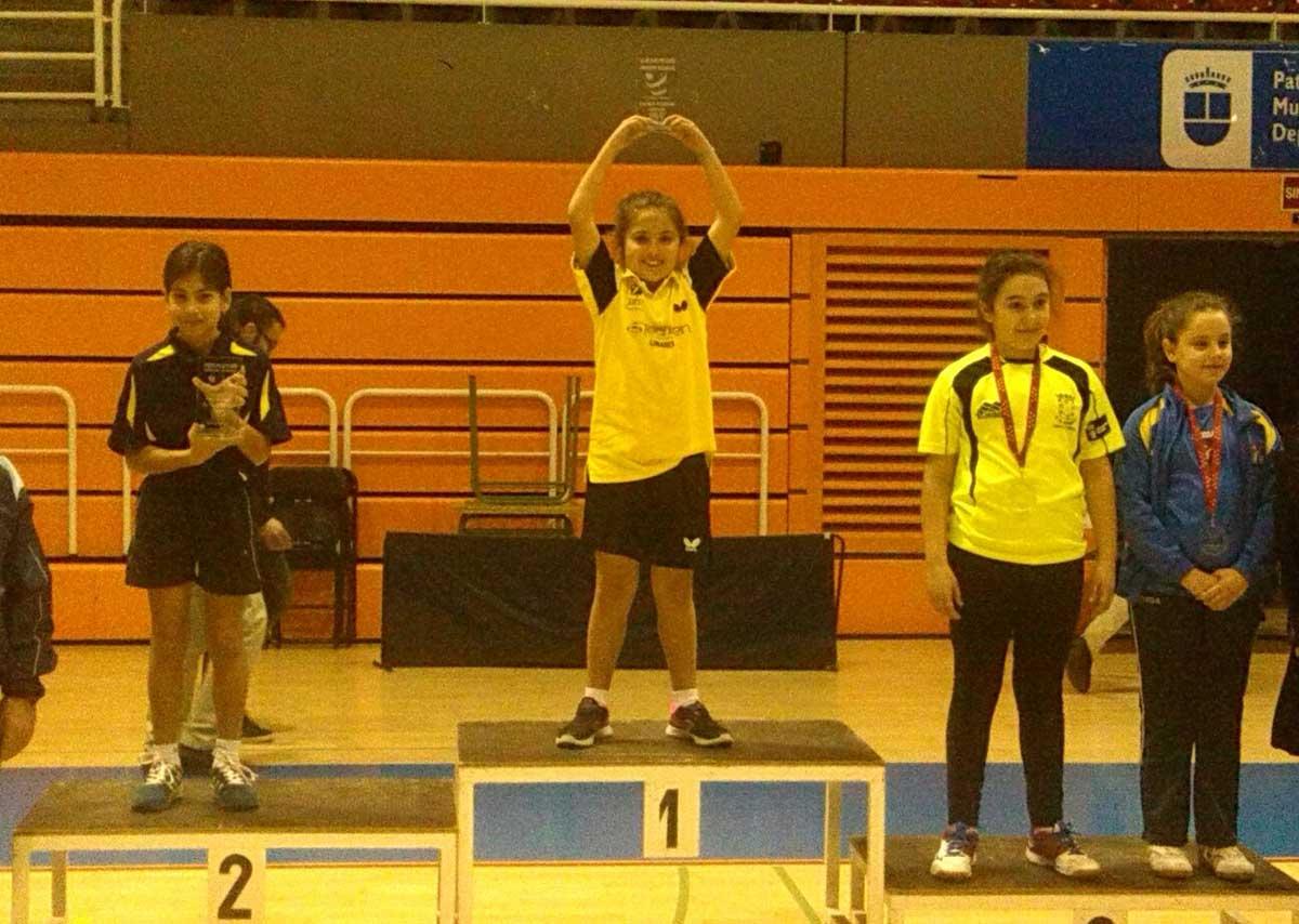 Isabel Conchillo, Campeona en categoría benjamín