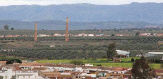 Paisaje Minero en Linares - Chimeneas Fundición de la La Tortilla