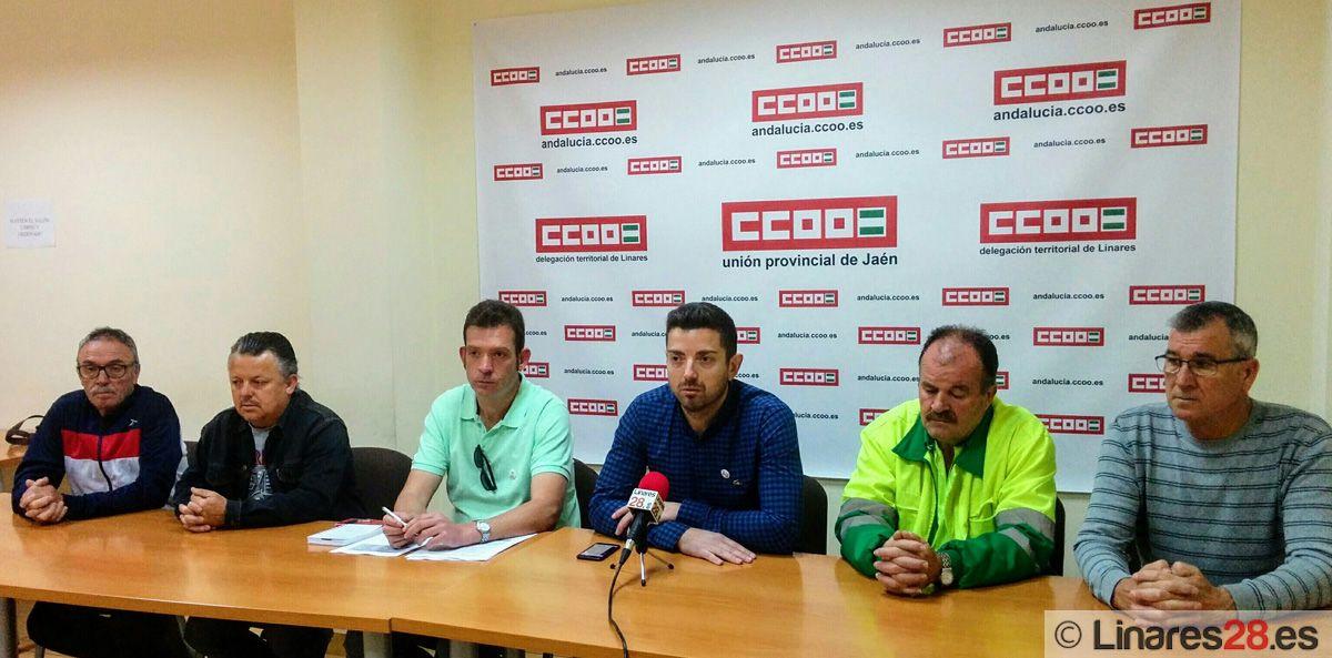 CC.OO. denuncia asimetría salarial dentro de la plantilla de Urbaser Linares