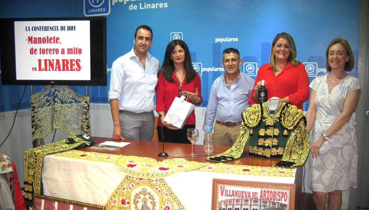 """PP: """"Gran éxito de la conferencia inaugural del ciclo de actividades conmemorativas 'Linares y Manolete, el legado de un mito' puesto en marcha por el Partido Popular"""""""