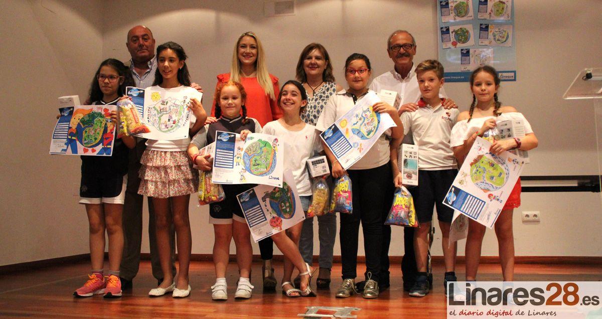 El Ayuntamiento de Linares y Linaqua entregan los premios del XIV Concurso de Dibujo Infantil