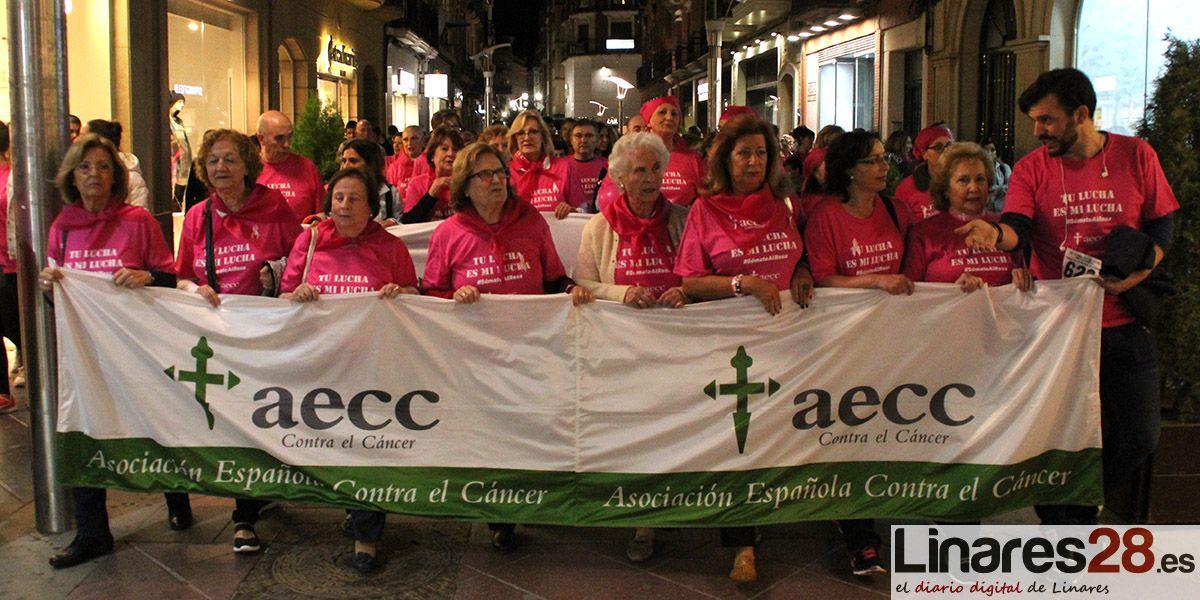 """Más de 700 participantes en la """"II Marcha contra el Cáncer de Linares"""""""