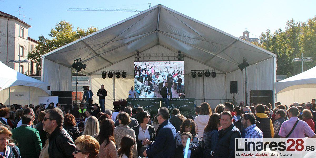 Linares recibe a miles de visitantes durante la IV Fiesta del Primer Aceite de Jaén