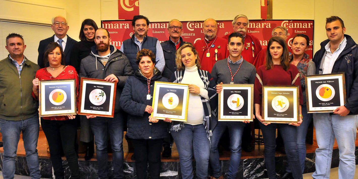 Entregados los premios de la Ruta de la Tapa de Linares 2017
