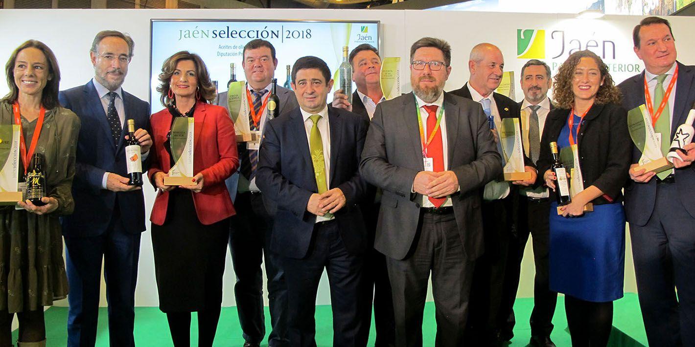 Los aceites Jaén Selección 2018 inician en Fitur su recorrido promocional de la mano de la Diputación