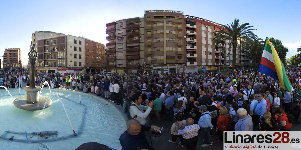 VÍDEO 360º | Linares se vuelve a echar a la calle para exigir cumplimientos