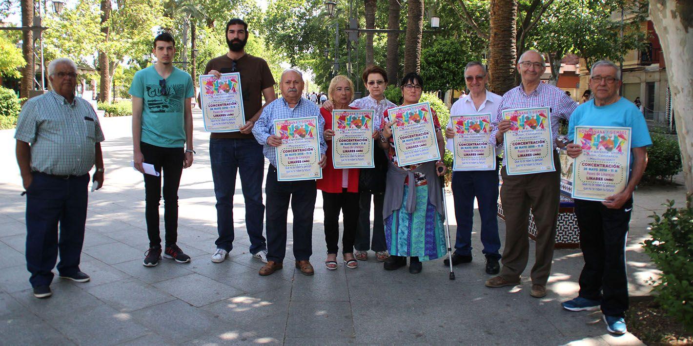 Los pensionistas vuelven a protestar mañana en Linares