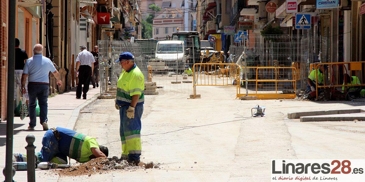 Avanzan las obras de Linaqua en la calle Sagunto
