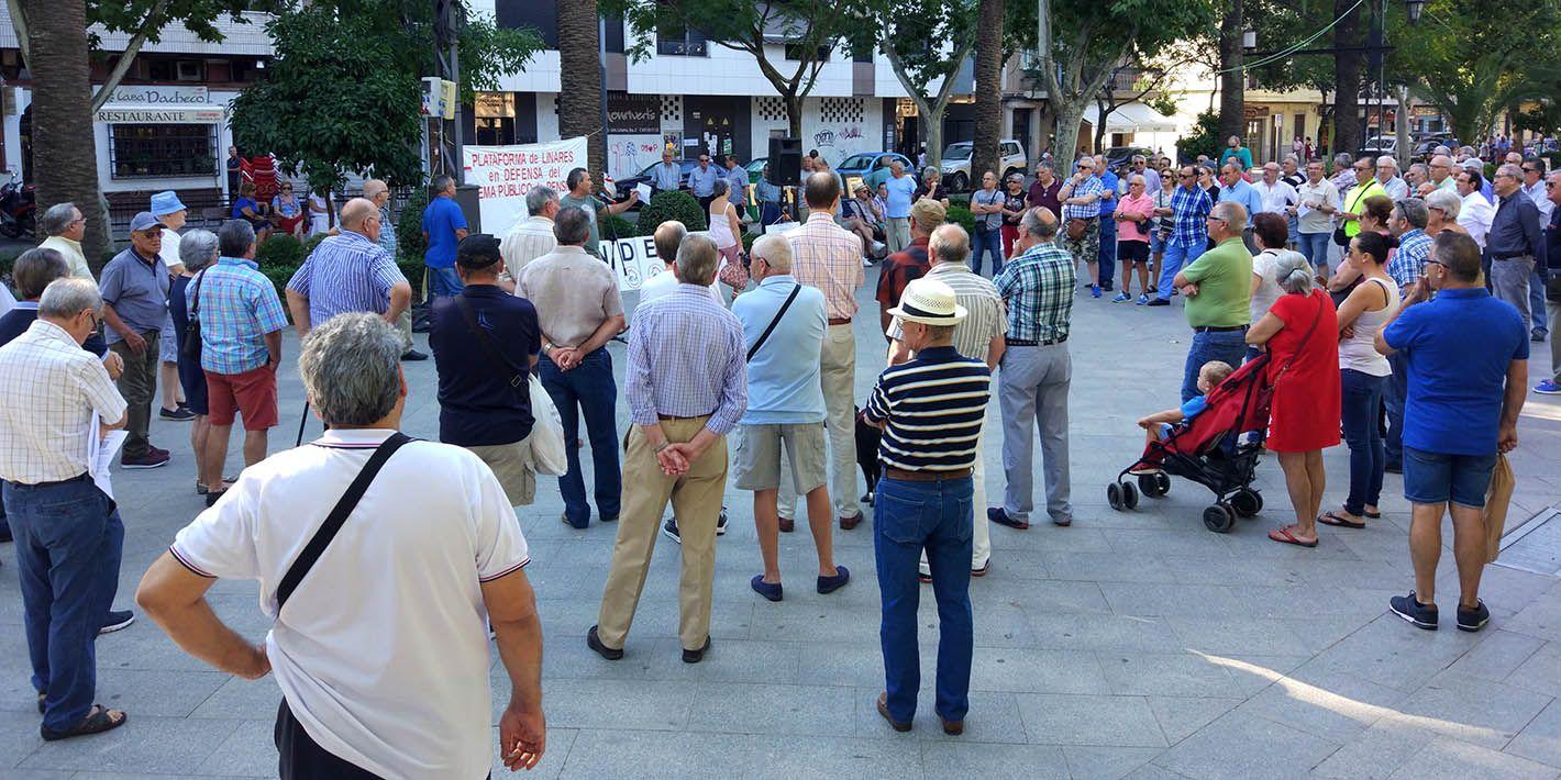 150 personas se han vuelto a unir hoy en Linares a la causa de los pensionistas