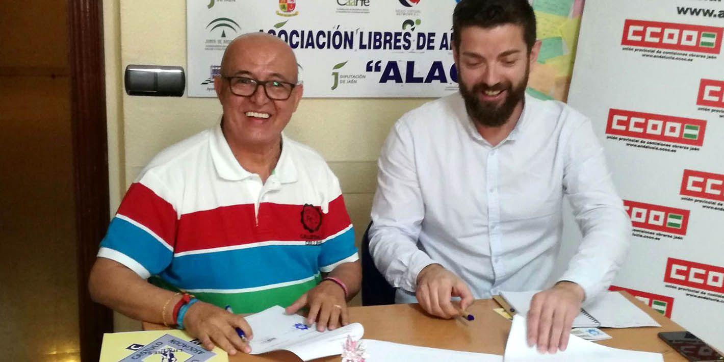 CCOO y ALAC firman un convenio de colaboración para ayudar a trabajadores expuestos a adicciones