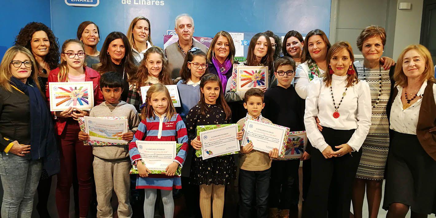 El PP de Linares entrega los premios de su VI Concurso 'Retrato de una Mujer'