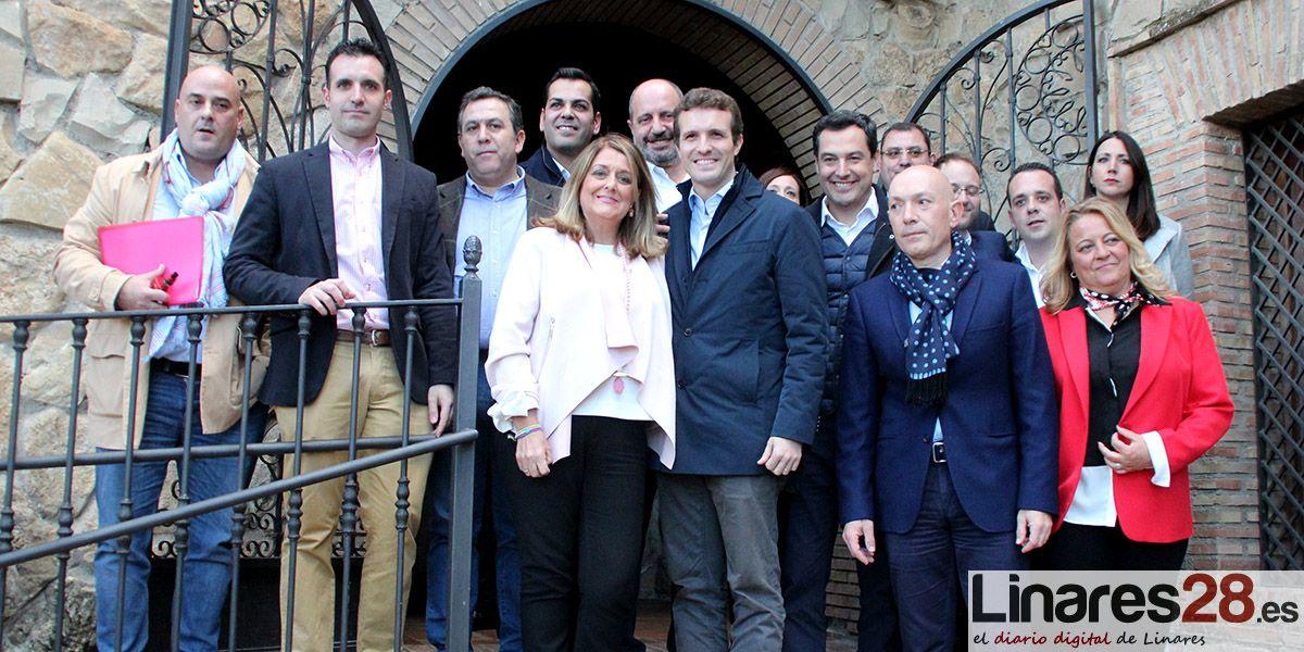 VÍDEO | La Plataforma 'Todos a Una por Linares' se reúne con Pablo Casado