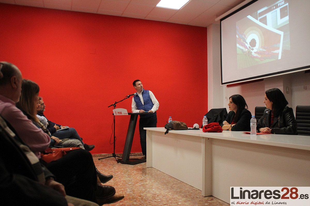 El PSOE hace precampaña en Linares de cara a las elecciones del 2D