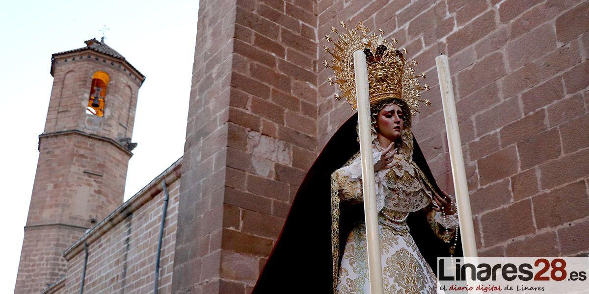 VÍDEO Y FOTOS | Ntra. Sra. de la Victoria procesiona por primera vez por Linares